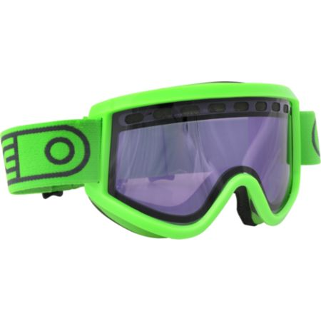 Airblaster AIRPill 2012 Hot Green & Purple Baker  Snowboard Goggles