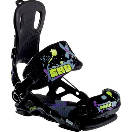 GNU Park Black 2012 Guys Snowboard Bindings