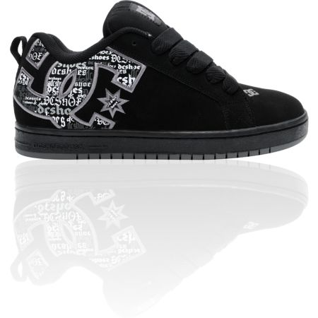 DC Court Graffik SE Black Battleship Armor Skate Shoe