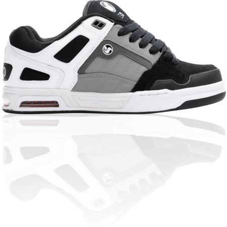 DVS Throttle White, Grey & Black Skate Shoe