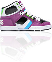 Osiris Women's NYC 83 Slim Lavender, White & Cyan Shoe