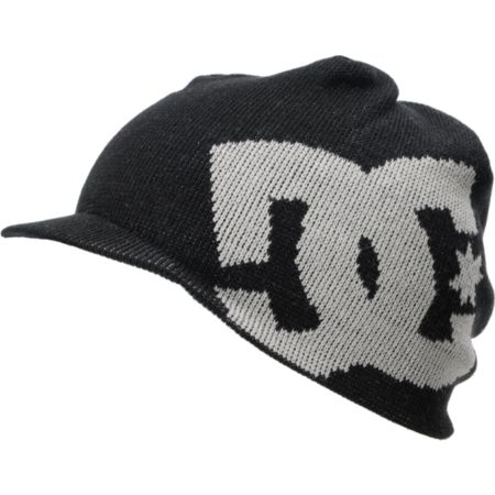 DC Big Star Black Visor Beanie