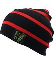 Grenade Astro Belt Red & Black Stripe Beanie