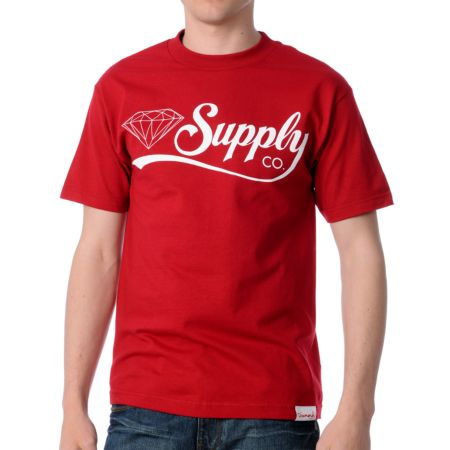 Diamond Supply Diamondaire Red Tee Shirt