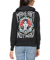 Obey Make Art Not War Charcoal Hoodie