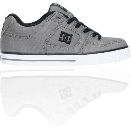 DC Pure TX Grey Canvas & Black Skate Shoe