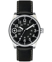 LRG Field & Research Black & Silver Analog Watch