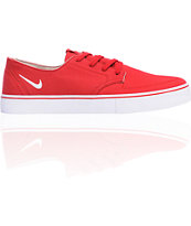 Nike 6.0 Braata LR Red & White Skate Shoe