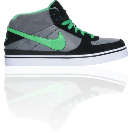 Nike 6.0 Boys Mavrk Mid Black, Grey, & Hyper Verde Shoe