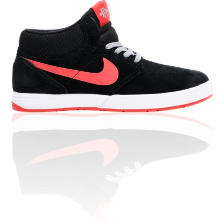 Nike SB P-Rod 5 Mid Lunarlon Black & Red Shoe