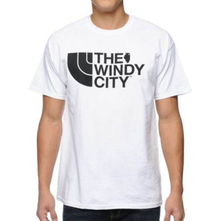 No Coast Windy City White Tee Shirt
