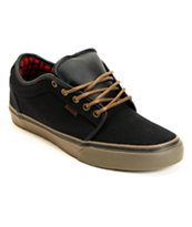 Vans Chukka Low Black, Gum & Flannel Canvas Skate Shoe