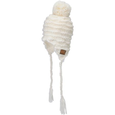 Spacecraft Sienna White 2012 Pom Earflap Beanie