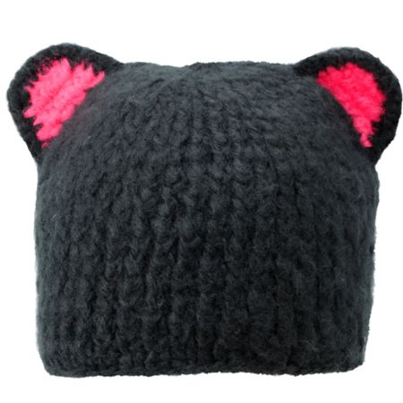 Spacecraft Girl Buddha Bear Black Beanie