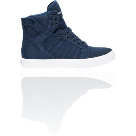 Supra Skytop Navy Express TUF Canvas Skate Shoe