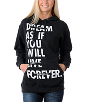 Glamour Kills Live Forever Tomorrow Charcoal Pullover Hoodie