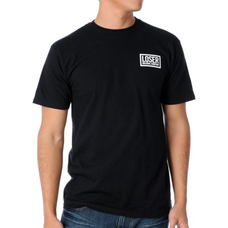 Loser Machine Japanese Loser Black Tee Shirt
