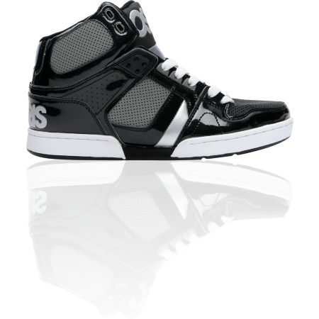 Osiris NYC 83 Black, Charcoal, & Silver Skate Shoe