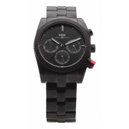 KR3W Redrum Black Chronograph Watch