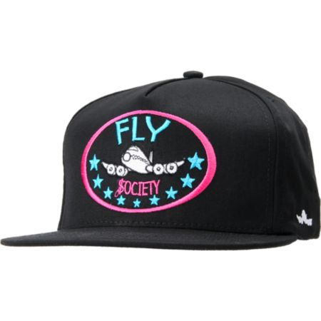 Fly Society Classic Black Snapback Hat