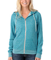 Zine Women's Bright Green Salt & Pepper Zip Hoodie