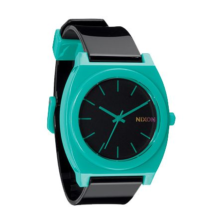 Nixon Time Teller P Black & Teal Analog Watch