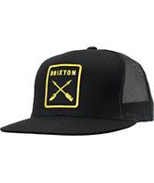 Brixton Wheeler III Black Trucker Hat