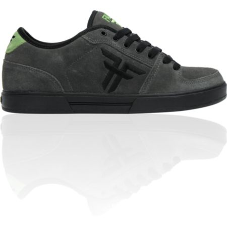 Fallen Shoes Patriot II Charcoal & Green Suede Skate Shoe