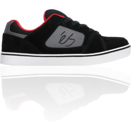 eS Slant Black & Red Skate Shoe
