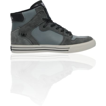 Supra Stevie Wiliams Vaider Charcoal Grey Leather Shoe