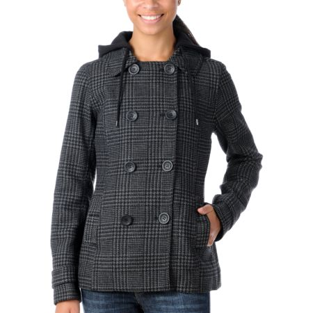 Empyre Girls Origin Charcoal Pea Coat