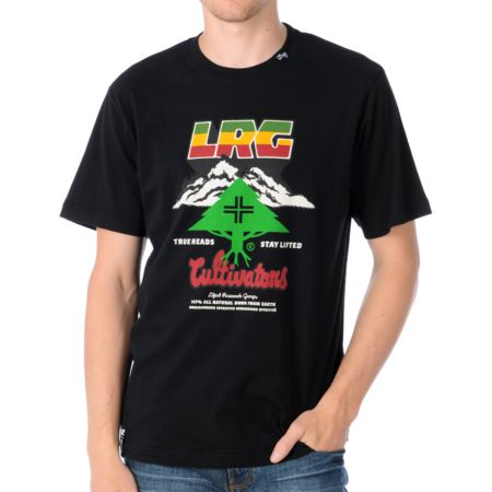 LRG Land For Nature Black Tee Shirt