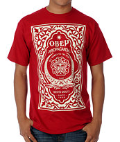 Obey Moroccan Label Red Tee Shirt