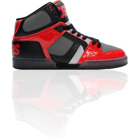 Osiris NYC 83 Black, Red & Chrome Skate Shoe