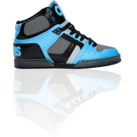 Osiris NYC 83 Black, Cyan & Charcoal Shoe