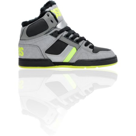 Osiris NYC 83 SHR Grey Black & Lime Skate Shoe