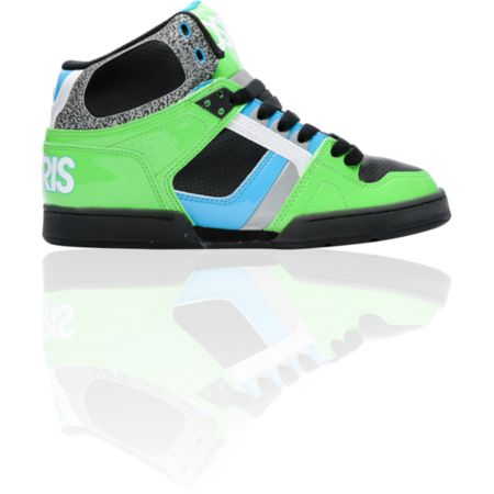 Osiris NYC 83 Lime, Black, & Cyan Skate Shoe