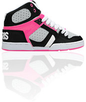Osiris Women's NYC 83 Slim Black, Grey & Pink Shoe