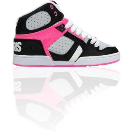 Osiris Girls NYC 83 Slim Black, Grey & Pink Shoe
