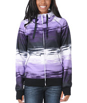 Empyre Girl Canyon Purple & Black Stripe 2012 Tech Fleece Zip Hoodie