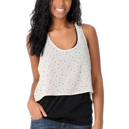 Volcom Girls Jaw Joplin Cream Tank Top