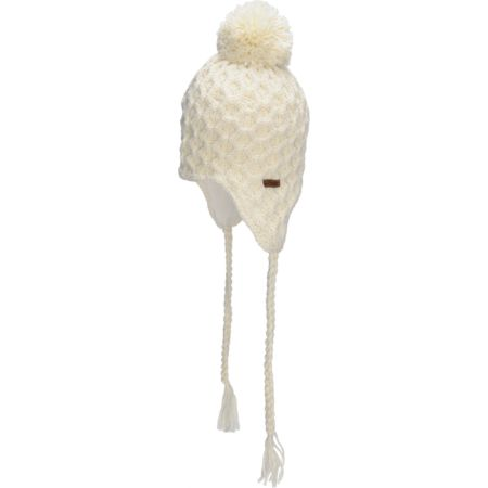 Empyre Girls Aisha Fleece Earflap White Knit Beanie