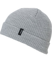 Brixton Heist Light Grey Roll Up Beanie