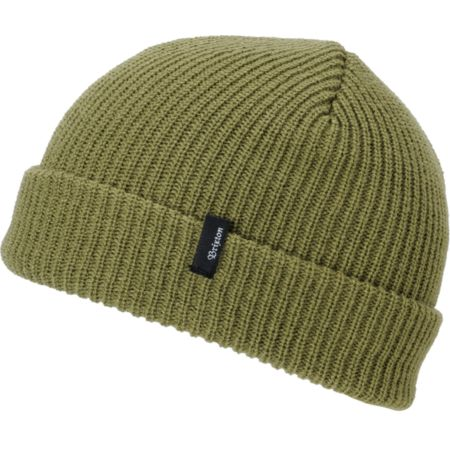 Brixton Heist Light Olive Roll Up Beanie