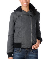Empyre Girl Revive Black & Grey Moto Jacket