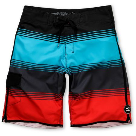 Billabong Boardy 19 Red & Blue Stripe Board Shorts