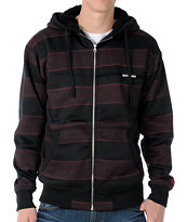 Volcom Pockito Black Stripe 2012 Hydro Sherpa Zip Tech Fleece