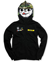 Neff Boys SGT Suckerface Black Full Zip Face Mask Hoodie