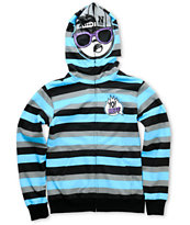 Neff Boys Yo Neff! Blue Stripe Full Zip Face Mask Hoodie