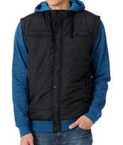 Dravus Hitman Blue Quilted Vest Hoodie